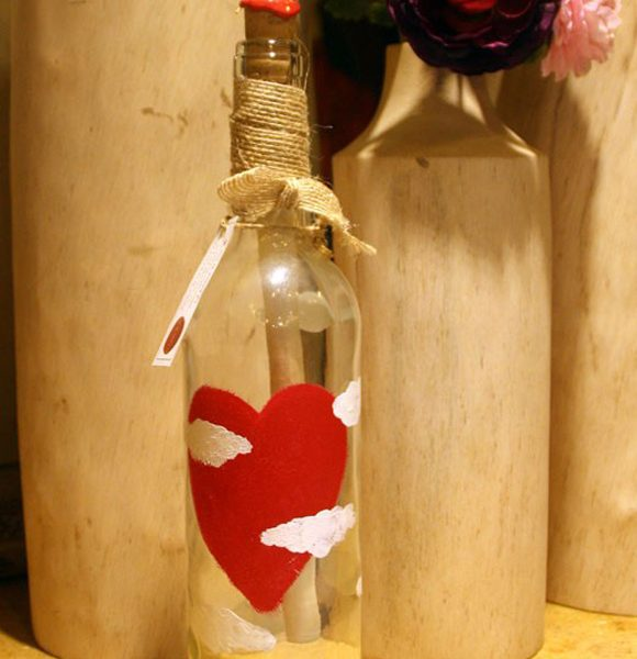 Manda tu mensaje de amor en una botella